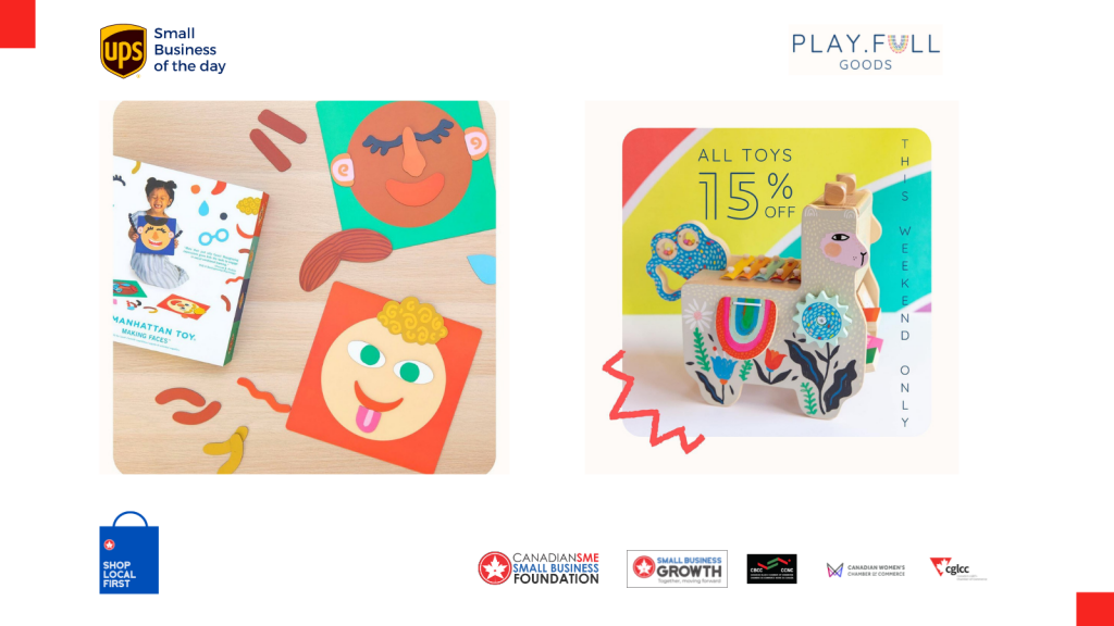 Today's UPS small business of the day is Play.Full.Goods