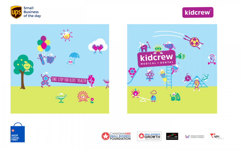 Today's UPS small business of the day is Kidcrew