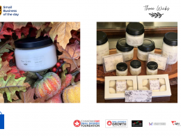 Today's UPS small business of the day is Three Wicks Candles